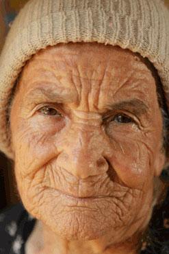 Wrinkle Old Woman